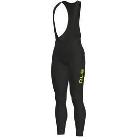Alé Cycling Solid Winter Bib Tights Herre black-yellow fluo